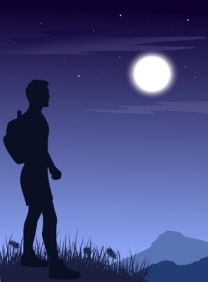 Little boy blue and the man in the moon